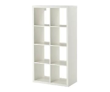 Ikea Kallax Shelving Unit w/ 4 Storage Boxes