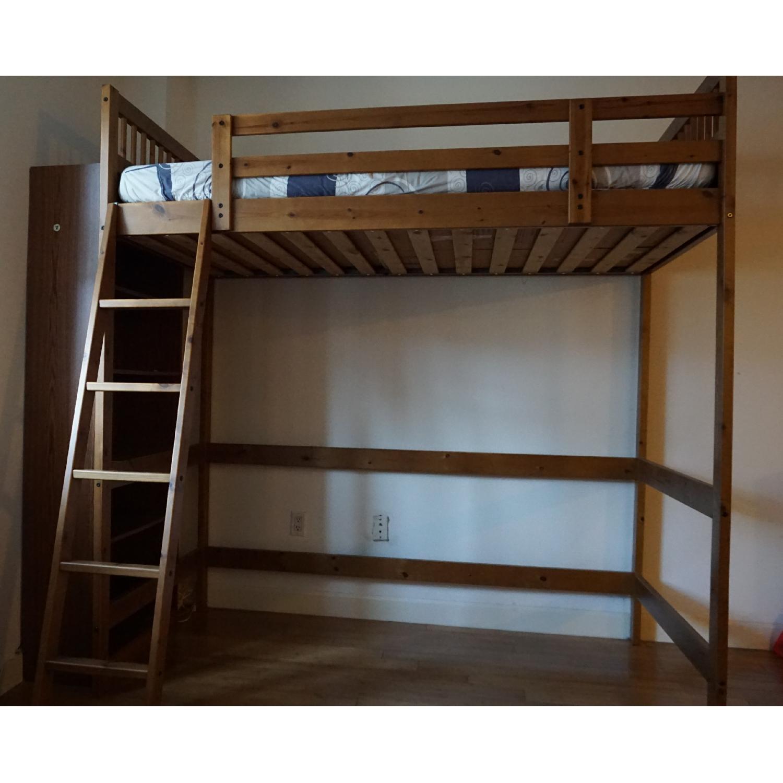 Ikea Twin Size Wood Loft Bed Aptdeco