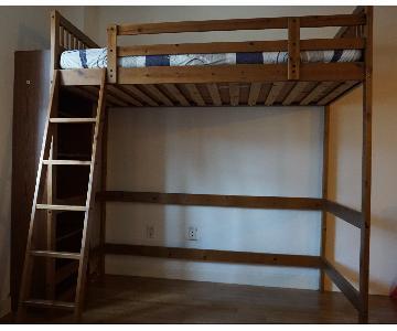 Ikea Twin Size Wood Loft Bed