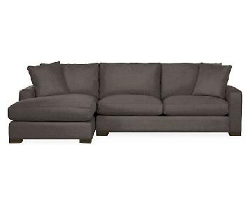 Room & Board Metro 2-Piece Chaise Sectional Sofa