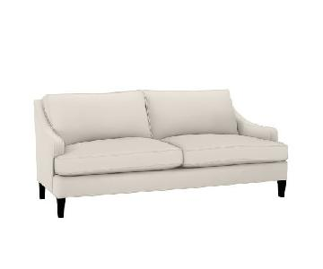 Pottery Barn Landon Sofa in Natural Linen