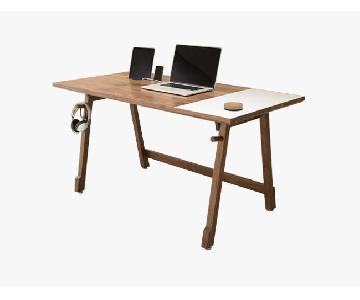 Artifox Desk in Walnut w/ Built-in Whiteboard