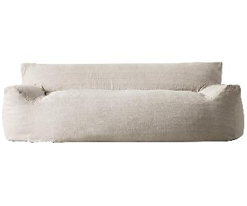 Restoration Hardware Berlin Lounge Linen Sofa