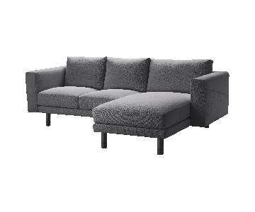 Ikea Norsborg Grey 2-Piece Sectional Sofa