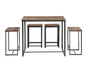 Abington Lane Walnut 5-Piece Kitchen Table Set
