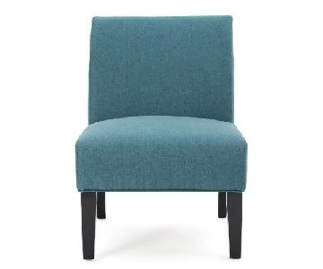 Dark Teal Veranda Slipper Chair