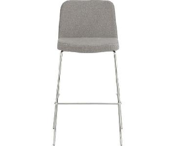 CB2 Charlie Bar Stool in Salt & Pepper