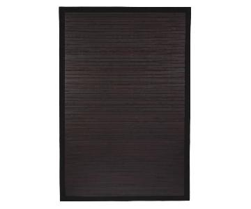 Oriental Furniture Black Bamboo Rug