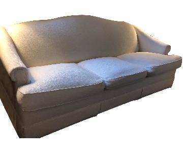 Vintage Upholstered 3-Seater Sleeper Sofa