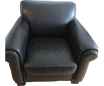 Chocolate Leather Armchair