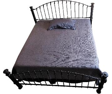 Wrought Iron Black King Sized Post Bed