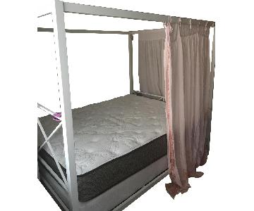 White Queen Size Canopy Bed