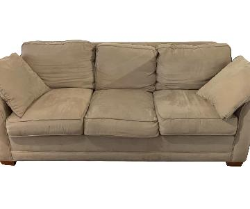 Natural Suede 3 Seater Sofa