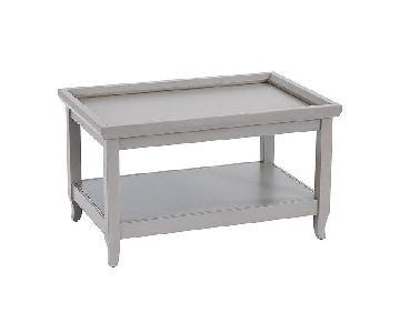 Ballard Designs Morgan Coffee Table in Gray