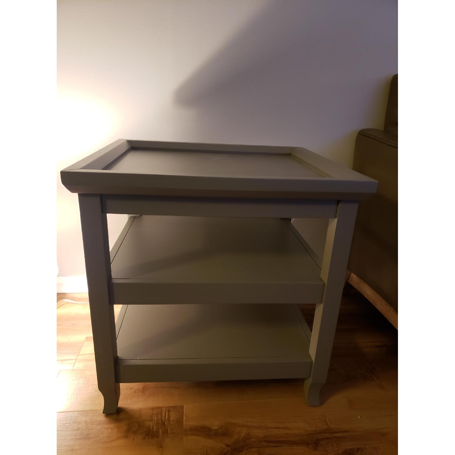 Ballard Designs Morgan End Table (Gray) - image-2