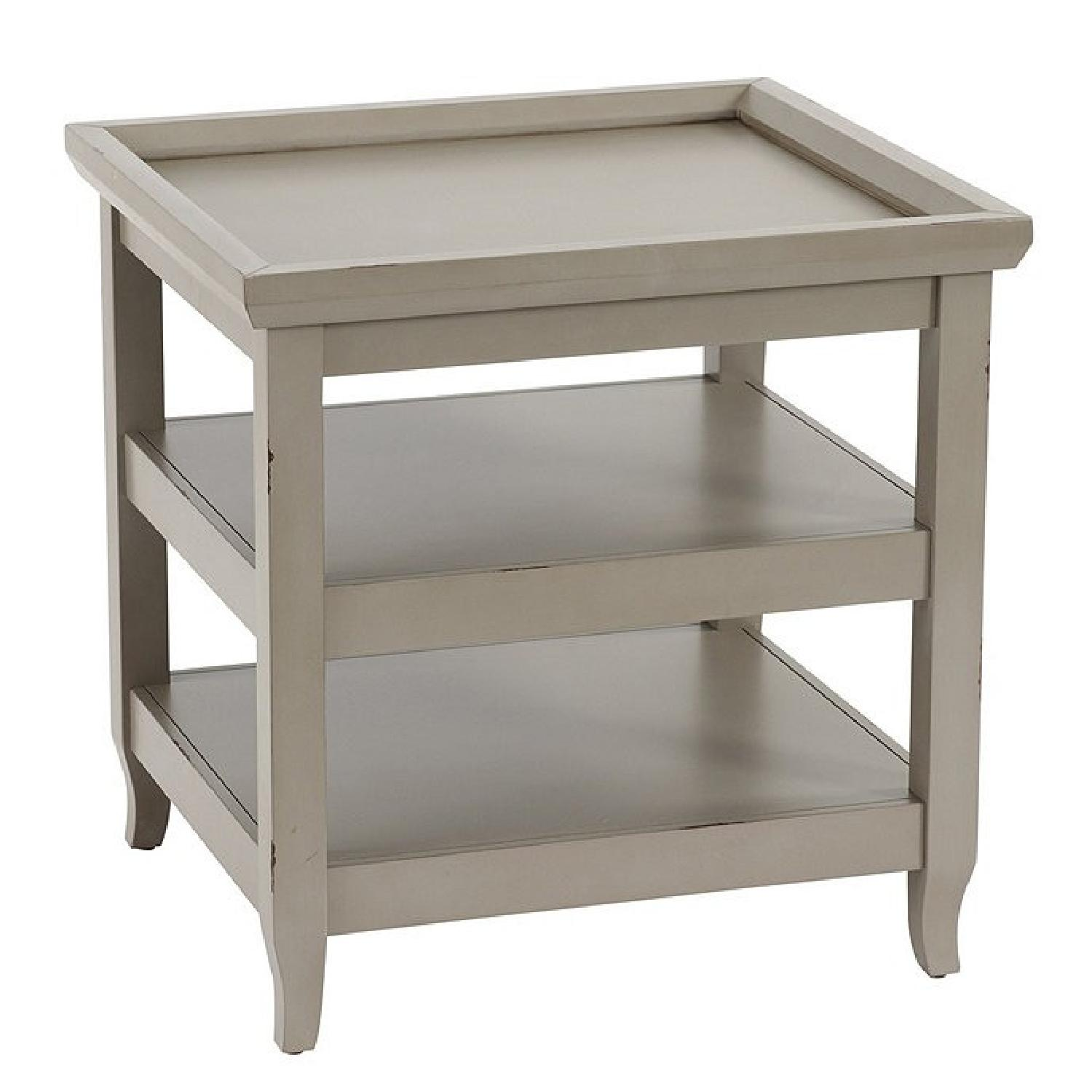 Ballard Designs Morgan End Table (Gray) - image-0