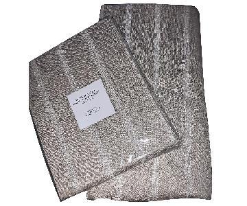 Restoration Hardware Belgian Linen Sheer Tonal Stripe Drapes
