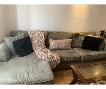 Bob's Sage Green Sectional Sofa