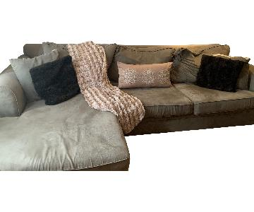 Bob's Sage Green Sectional Sofa