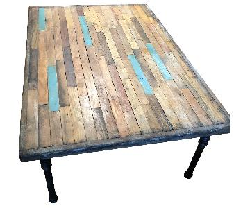 Custom Hand Made Rustic Wood Coffee Table