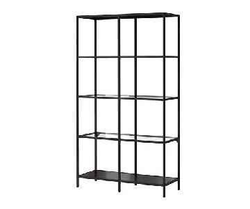 Ikea Glass & Steel Shelf/Bookshelf