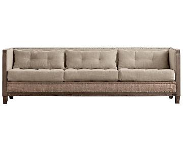Restoration Hardware Deconstructed Shelter Arm Sofa