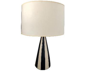 Jonathan Adler Black & White Striped Table Lamp