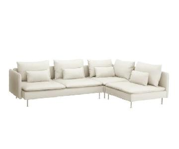 Ikea Soderhamn 4 Seat Sectional Sofa w/ Chaise