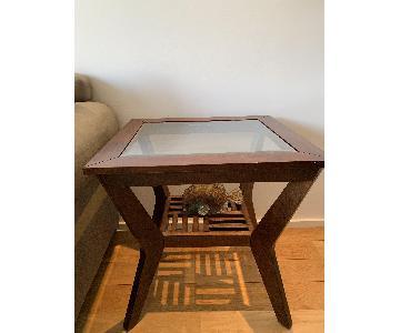 Bob's Glass Top Side Table