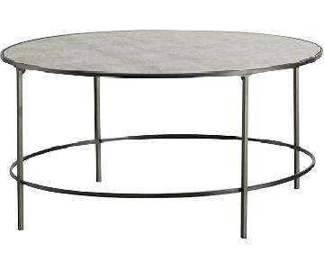 West Elm Antique Glass Coffee Table