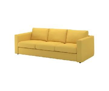 Ikea Vimle Yellow 3 Seater Sofa