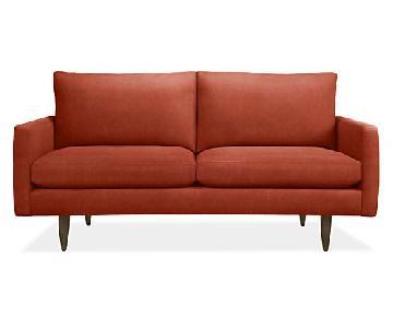 Room & Board Jasper Loveseat in Rust Red