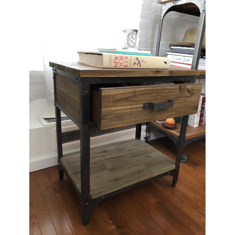 World Market Wood & Metal Side Tables-2