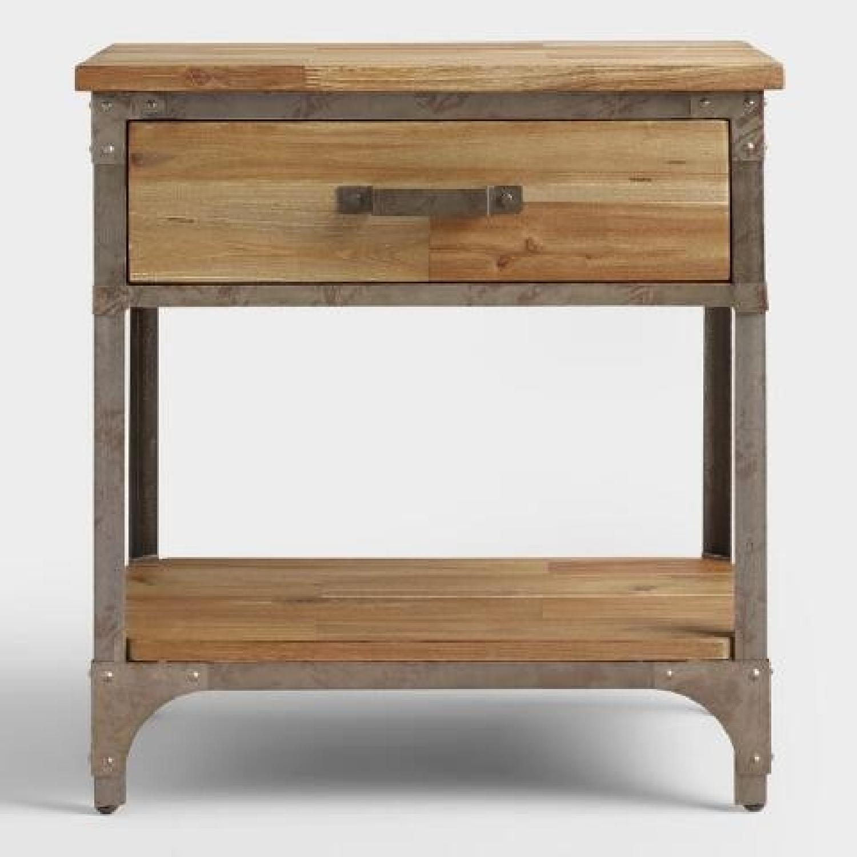 World Market Wood & Metal Side Tables-3