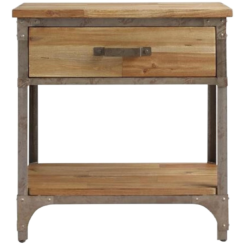 World Market Wood & Metal Side Tables