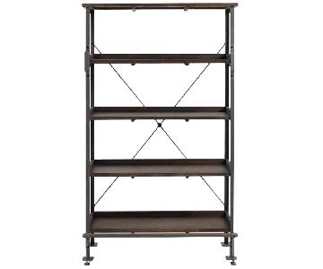 World Market Wood & Metal Open Shelf Bookcase