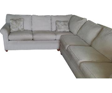 Ethan Allen L-Shaped Sectional Sofa