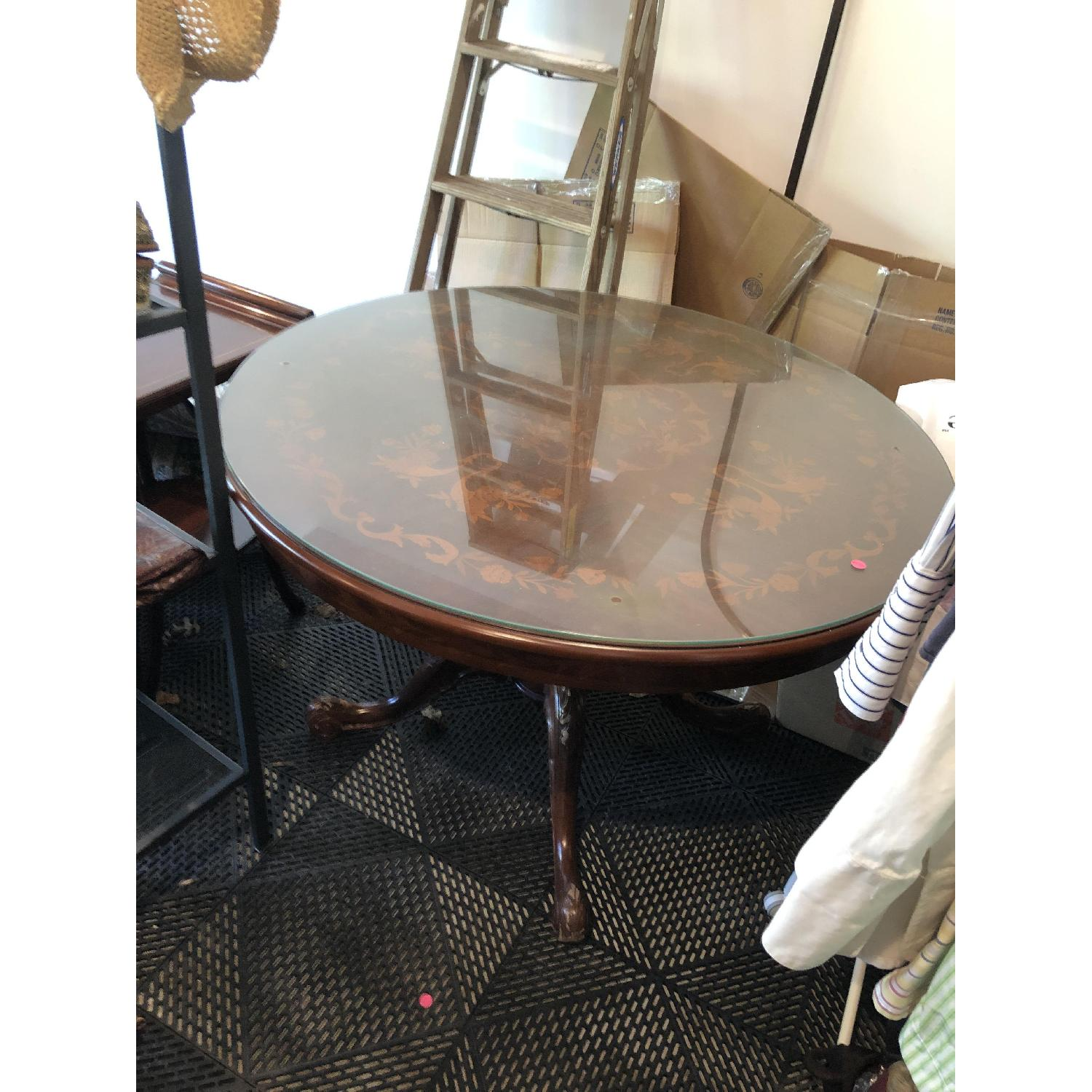 Vintage Round Dining Table-0