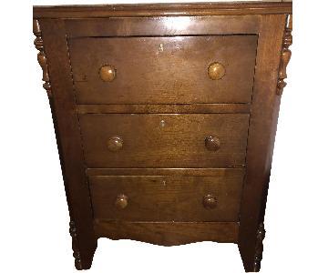 Antique Wood Nightstand