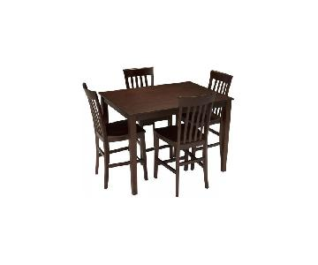 Raymour & Flanigan 5-Piece Counter Height Dining Set