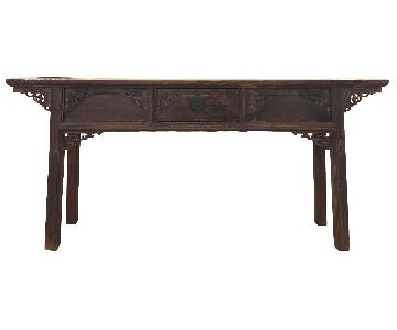 Early Antique Qing Chinese Carved Altar Table