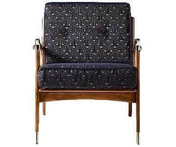 Anthropologie Haverhill Chair w/ 3 Cushions