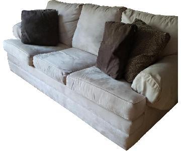 Kincaid Furniture Grey Suede Sofa + Chair