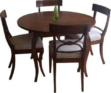 Ethan Allen Expandable Dining Table w/ 4 Chairs