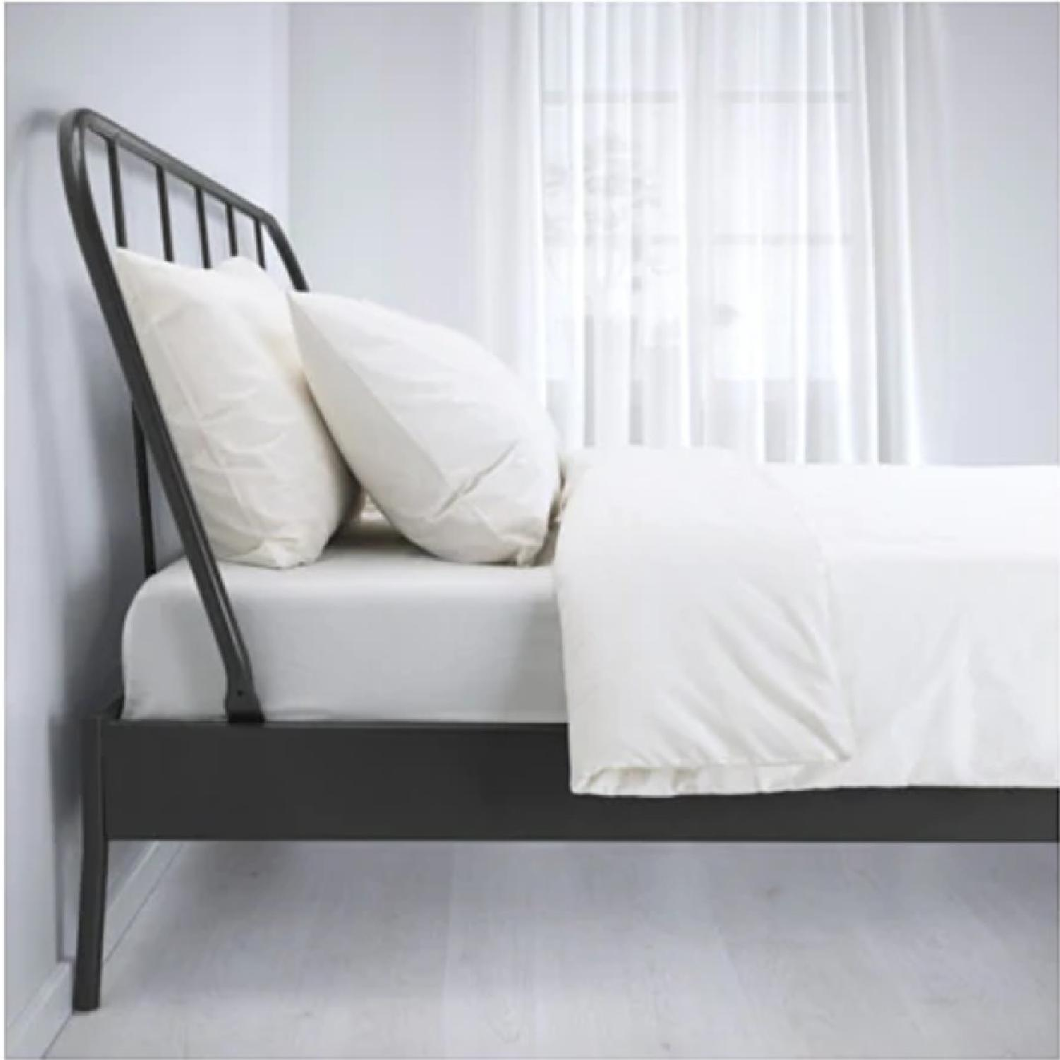 Ikea Queen Size Metal Bed Frame-1