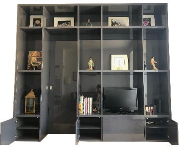 Custom Lacquer Wall Unit