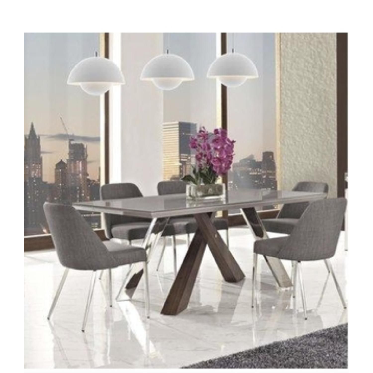 Wade Logan Link Dining Table w/ 8 Chairs
