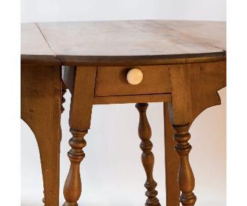 Vintage 1905 Brandt Mahogany Drop-Leaf Side Table