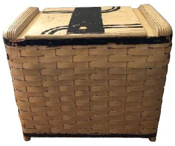 Antique Art Deco Storage Basket