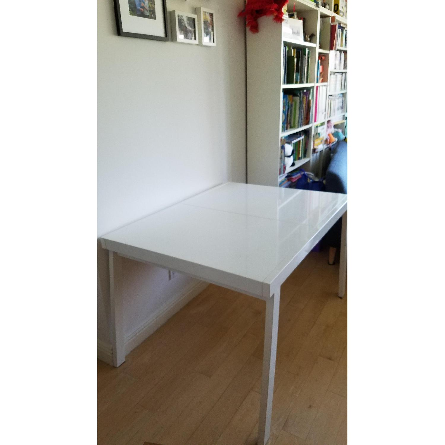 ... CB2 Pocket White Extendable Dining Table 0 ...